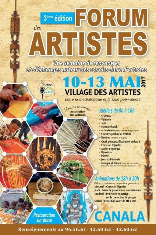 AFFICHE FORUM ARTISTES CANALA 2017